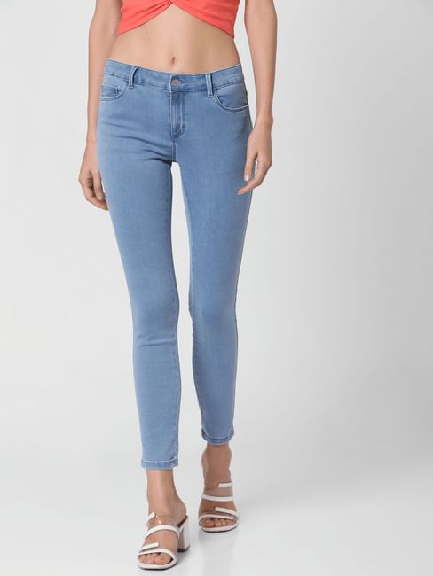 Perfect Light Blue Mid Rise Jeggings