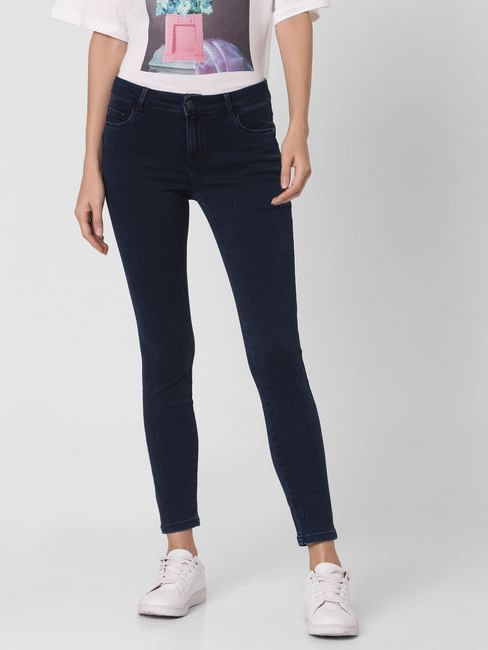 Perfect Blue Mid Rise Jeggings