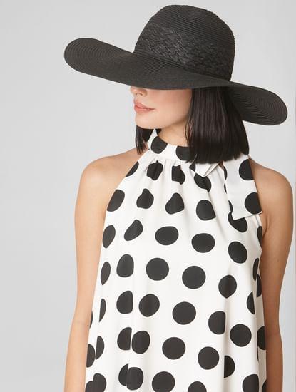 Black Straw Sun Hat