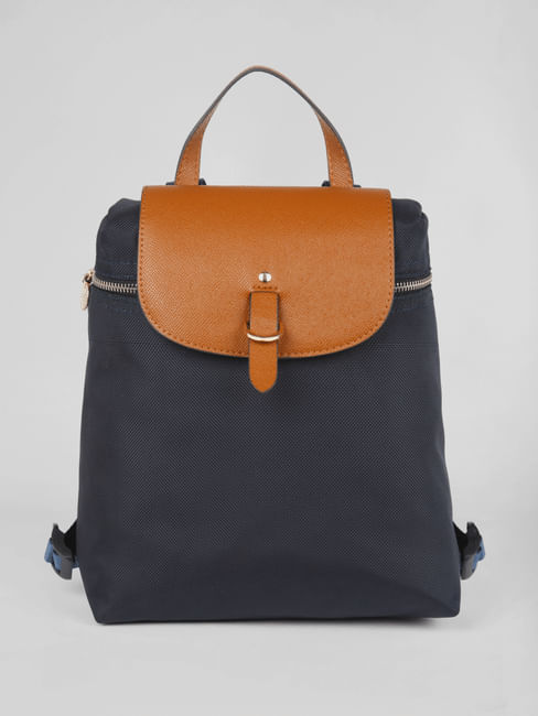Navy Blue Front Flap Backpack