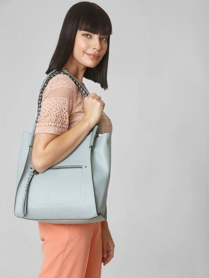 Blue Braided Shoulder Bag