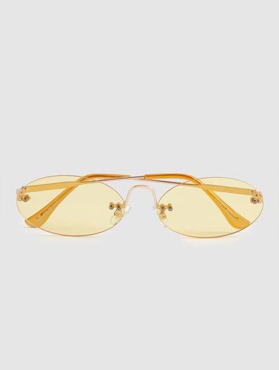 Yellow 90's Rimless Sunglasses