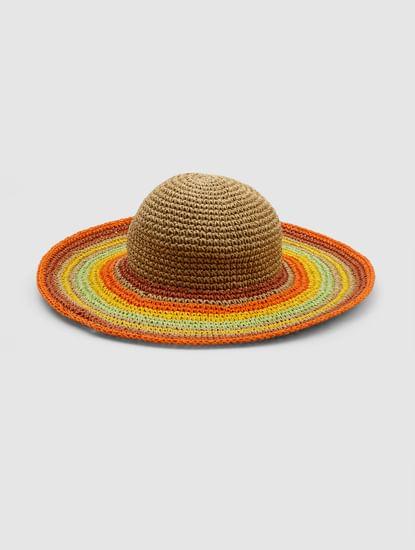 Multi-coloured Straw Hat