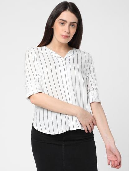 White Striped Shirt