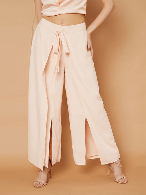 Marquee Pink Overlay Wide Leg Pants
