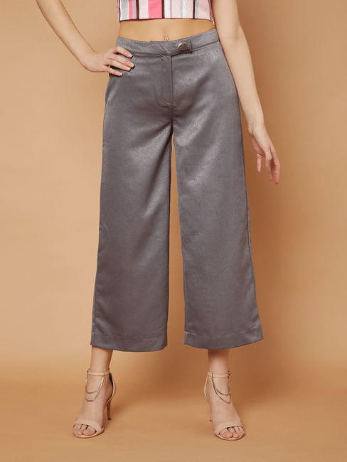 Marquee Grey Mid Rise Culottes