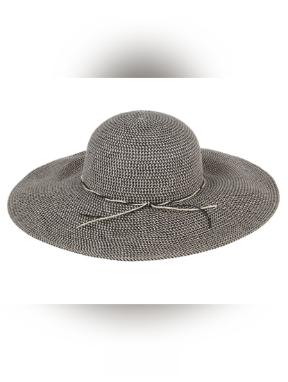 Black Self Design Hat