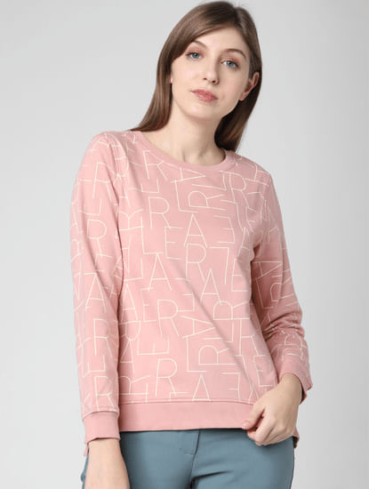 Pink All Over Print Sweatshirt