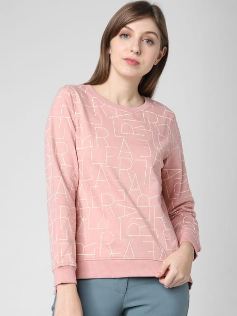 Pink All Over Print Sweatshirt
