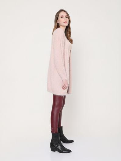Pink Faux Fur Cardigan