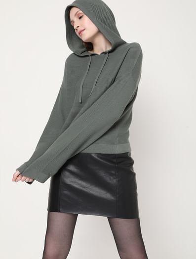 Green Organic Cotton Hoodie