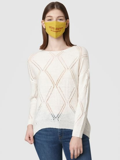 Pack of 2 3PLY Jacquard Knit Anti-Bacterial Mask