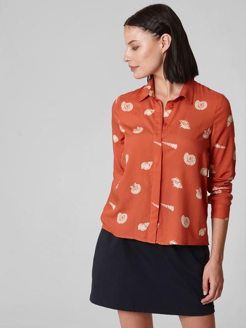 Brown All Over Print Shirt