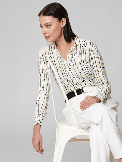 White All Over Print Shirt