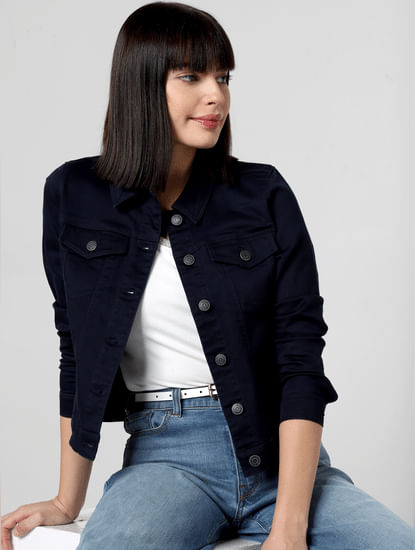 Navy Blue Denim Jacket