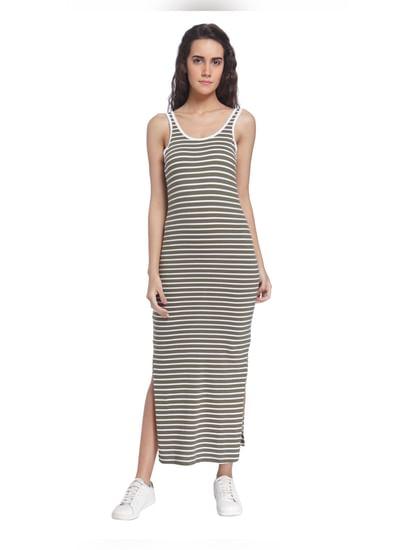 Stripes Thin Casual Maxi Dress