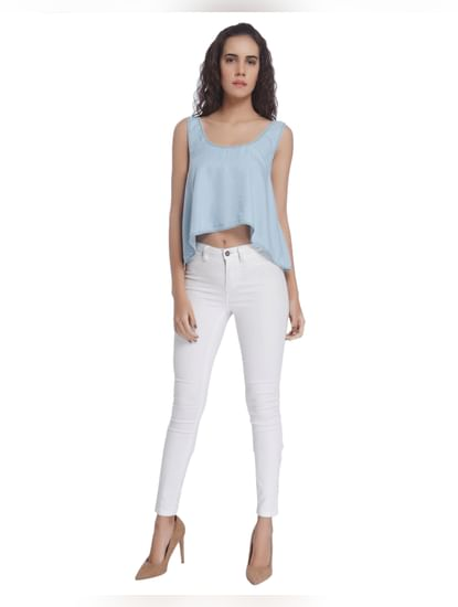 Fit And Flare Cropped Top