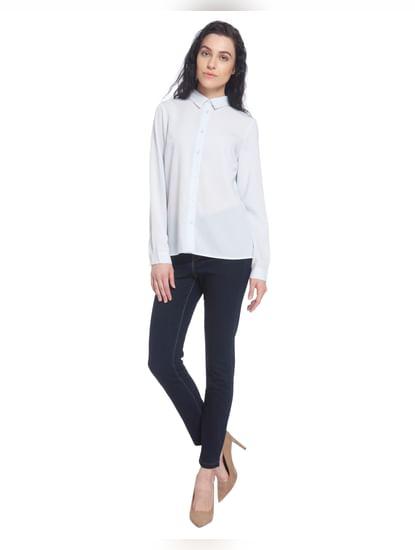 Light Blue Solid Shirt
