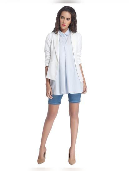 Light Blue Solid Shirts