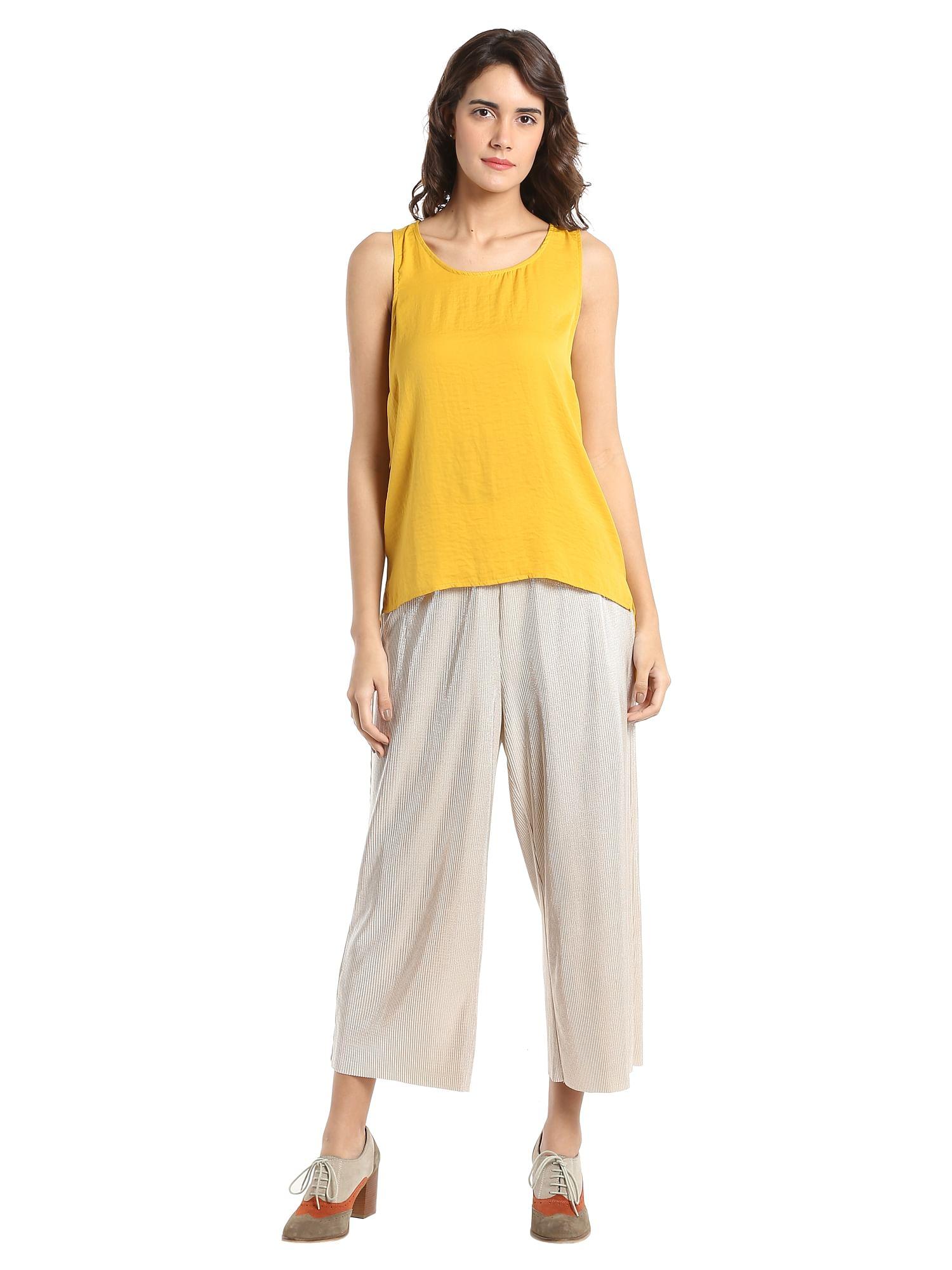 Buy Women Yellow High Low Toponline