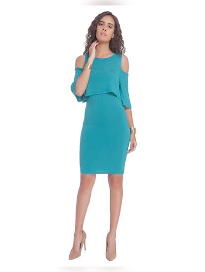 Green Overlay Short Dress