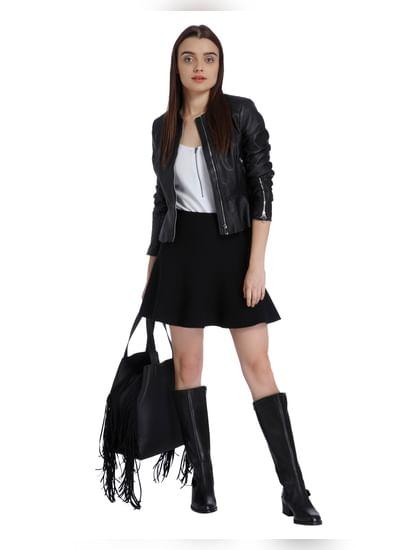Black Skater Mini Skirt