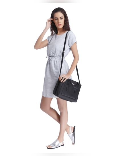 Grey Linen Mini Dress