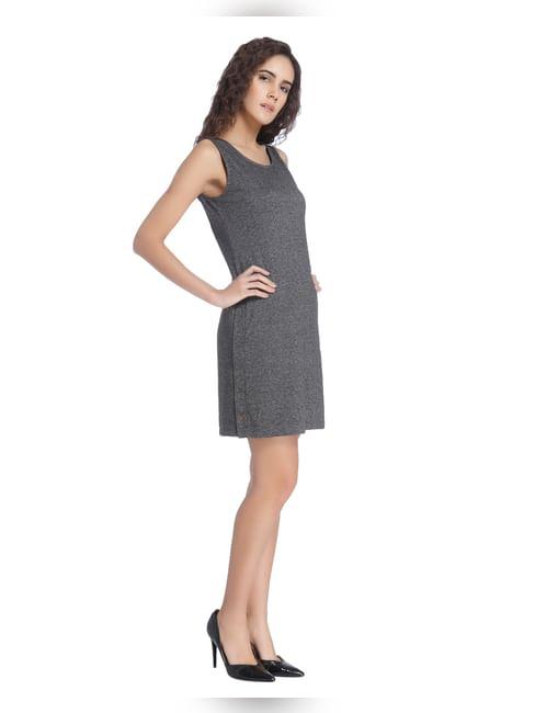 Dark Grey Sleeveless Dress
