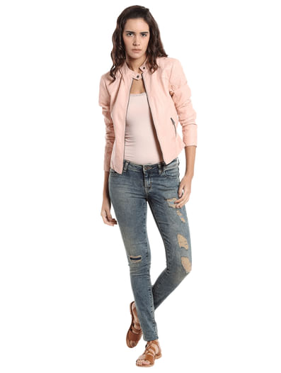 Distressed Super Slim Jeans