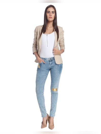 Blue Gold Patch Super Slim Jeans