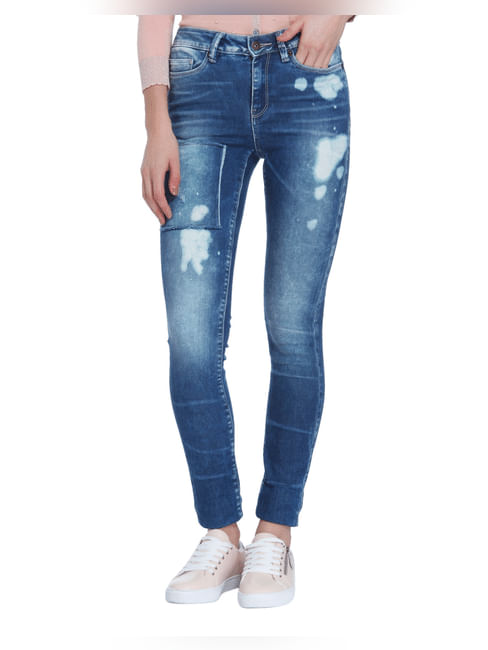 Blue Washed Super Slim Jeans