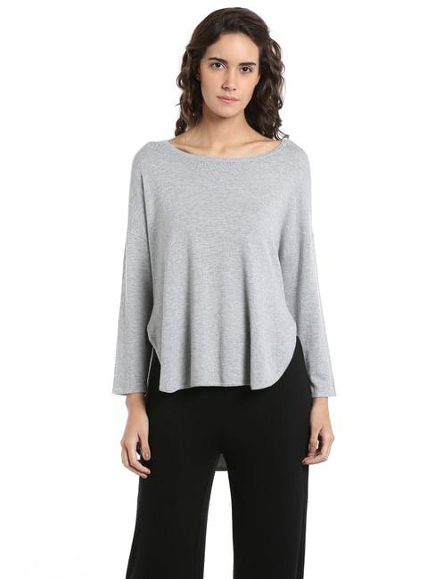 Light Grey High Low Sweater