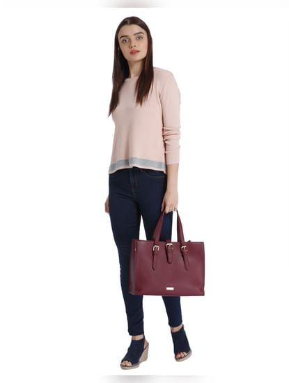 Pink Split Back Sweater