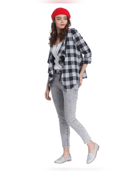 Blue Buffalo Check Cardigan