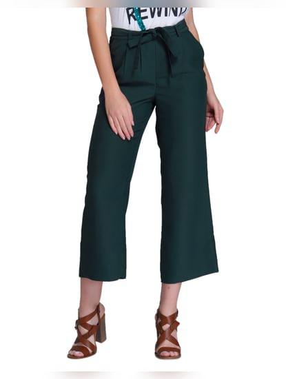 Dark Green Belted Culottes
