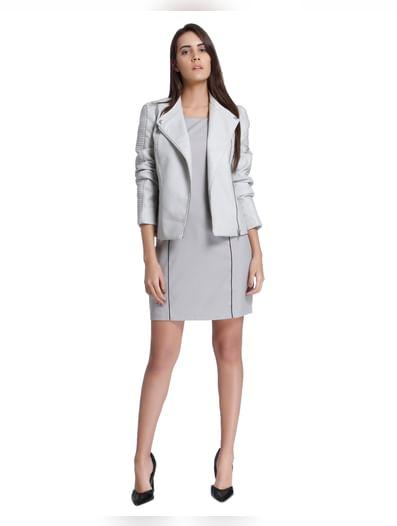 Light Grey Sheath Dress