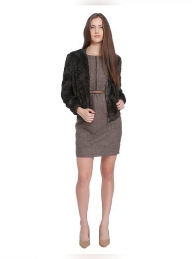 Brown Bodycon Dress