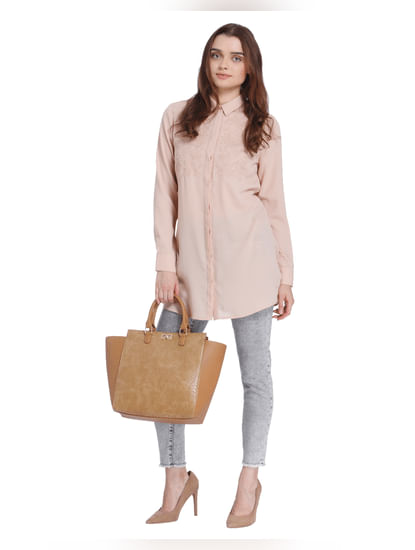 Pink Embroidered Tunic