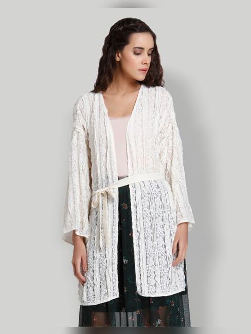 White Lace Kimono Shrug
