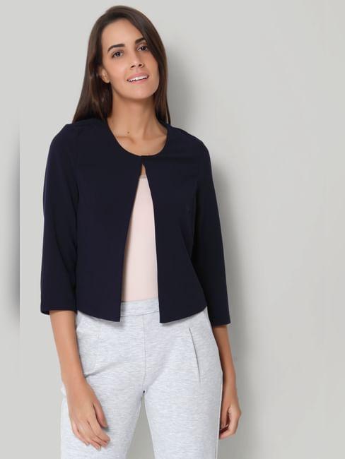 Dark Blue Short Jacket