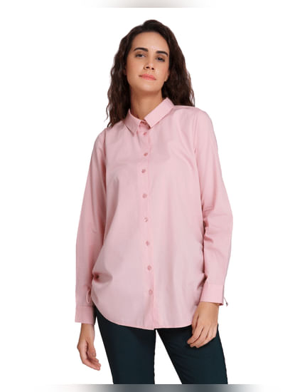 Pink Drawstring Shirt