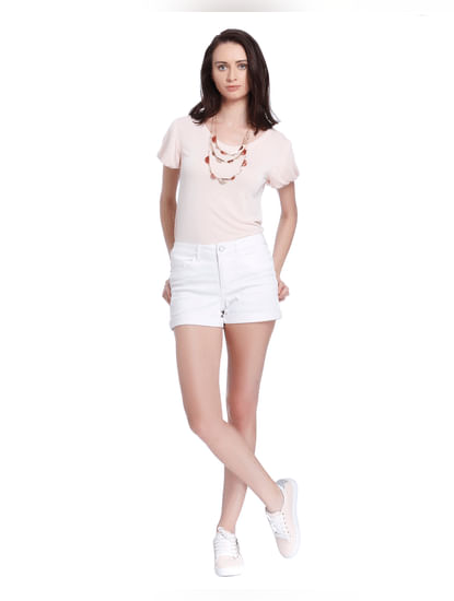 Pink Puffed Sleeves T-Shirt