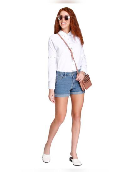 White Button Detail Shirt