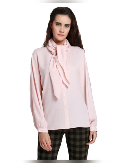 Pink Knot Detail Shirt