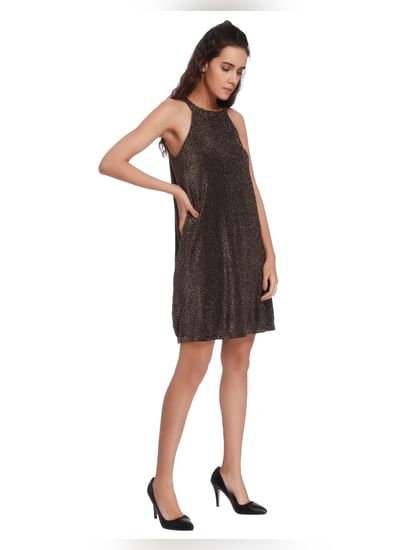 Shimmery Gold A-Line Dress