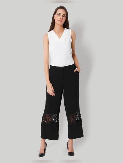 Black Lace Insert Culottes