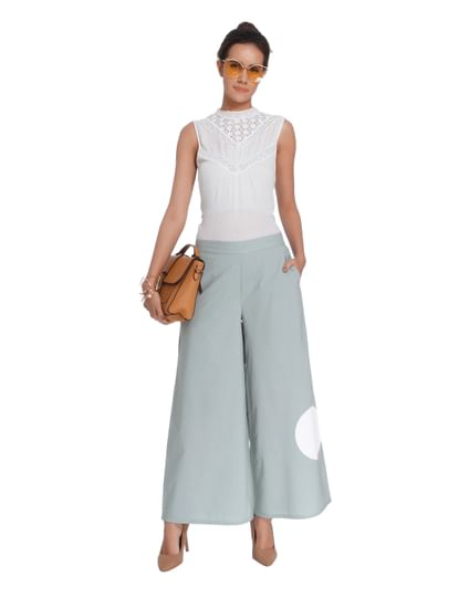 Light Green Polka Dot Culottes