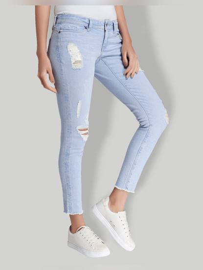 Blue Low Waist Slim Fit Jeans