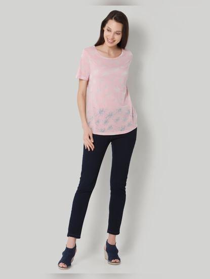 Pink Floral Print T-Shirt