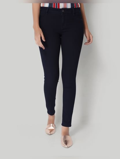 Dark Blue Low Rise Skinny Jeans